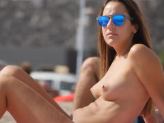 Perky tits are sexy on a girl at the beach videos