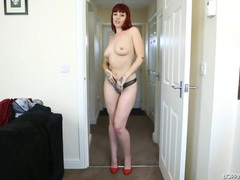 Skintight dress on a smoking hot redheaded girl videos
