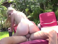 Beautiful blonde with a big ass fucked outdoors videos