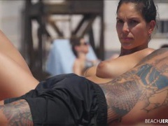 Amazing compilation of topless beach babes videos
