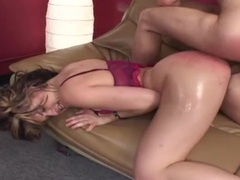 Fat red oiled up ass on this hardcore hottie videos