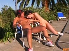 Naked lesbian tied to a chair outdoors videos