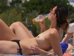 Flawless lean body on a amateur beauty at a topless beach movies at find-best-panties.com