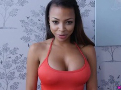 Big tits black girl talks dirty in a compilation videos