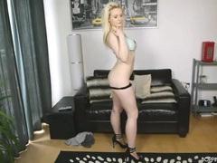 Hottie in heels and panties strips and dances movies at kilopics.net