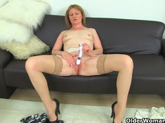 British milfs molly and clare in stockings with suspenders videos