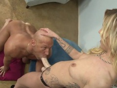 Blonde fucks his mouth and ass with a strapon movies at kilogirls.com