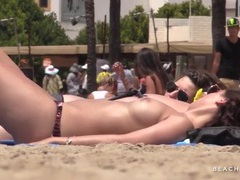 So many amateur titties on the beach movies at kilosex.com