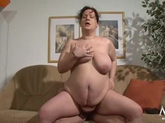 German bbw blows a fat old man lustily tubes