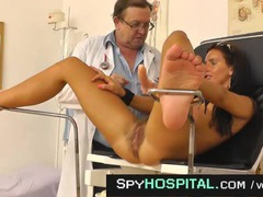 Hairy young patient puts her legs in the stirrups movies at kilosex.com