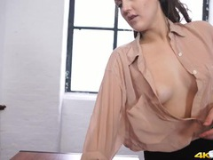 Sexy braless teacher flashes her tits in class movies at find-best-ass.com