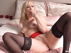 Sultry british chick masturbates and talks dirty videos