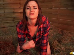 Hottie in the barn gives you joi to get you off videos