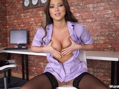 Joi from a smoking hot british nurse movies at freekiloclips.com