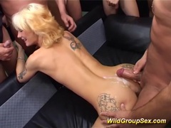 Skinny tattooed milf wild gang banged movies at kilogirls.com