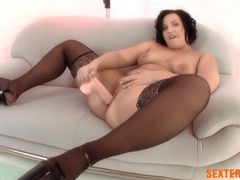 Fat girl fucks a dildo deep into her pink snatch movies at find-best-tits.com