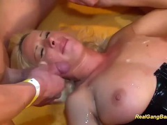 Gangbang orgy with busty german tubes