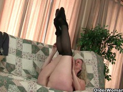 Milfs sable and catherine get juiced up in new pantyhose videos
