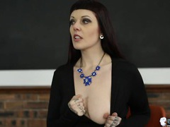 Erotic joi and tits teasing from a dark haired babe videos