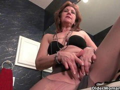 American grannies kay and penny masturbate in pantyhose videos