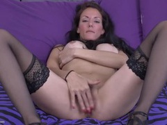 Perfect tight milf in stockings and heels masturbates videos