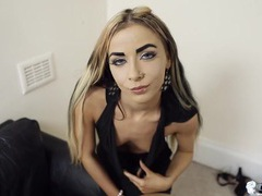 Tiny tits british girl in a sexy little black dress videos