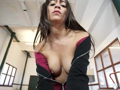 Sultry tease lets you jerk off to her perky tits videos