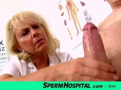 Mature nurse cutie jerks off a patient movies at find-best-babes.com