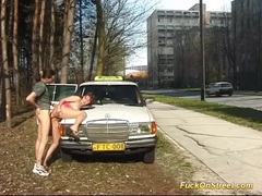 Taxi diver fucks teen anal in public videos