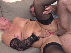 Freckled granny slut fucked in sexy stockings movies at find-best-lingerie.com