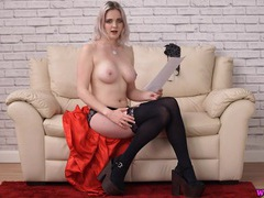 Sexy british blonde reads a filthy story movies