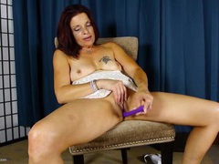 Wet mature redhead buries a toy in her vagina movies at find-best-lingerie.com