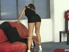 Smoking hot high heels on this dirty talking girl videos