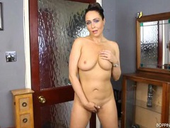 British milf in a lovely satin bra and panty set movies at adspics.com