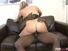 Black cock gives the chubby girl all the pleasure she needs movies at kilosex.com