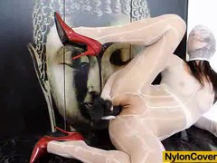 Nylon mask and high heels videos