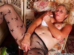 Milfs cristine and dalbin get home with new pantyhose videos