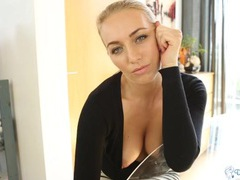 Cardigan girl gleefully teases her big natural tits movies at find-best-ass.com