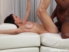 Scantily clad girl gets naked for a casting fuck tubes