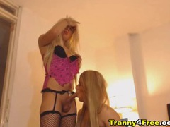 Amateur blonde tgirls blow each other movies at kilotop.com