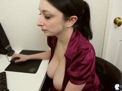 Big secretary tits in a sexy unbuttoned blouse videos