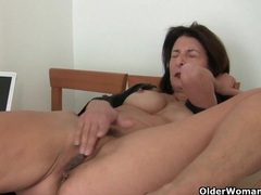 Mature milfs emanuelle and betty get their juices flowing videos
