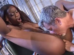Old white guy fucks a skinny black hottie movies at kilotop.com