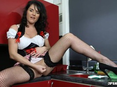 Maid uniform makes the british girl sizzling hot movies at sgirls.net