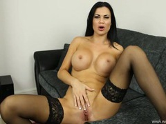 Pornstar jasmine jae gives the hottest joi movies at lingerie-mania.com