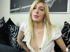 Joi from a british girl in a white blouse movies at kilosex.com