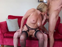 Talented mature slut makes two young guys feel good tubes