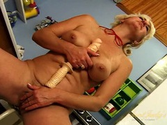 Horny naked housewife fucking her cunt with a dildo videos