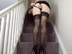 Beauty shows her pussy to help you masturbate movies at freekilomovies.com