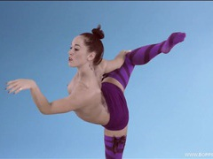 Ballet dancing beauty with a super fit body movies at kilopills.com